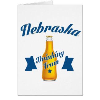 Nebraska Drinking team Card
