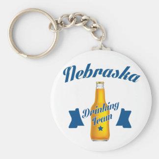Nebraska Drinking team Keychain