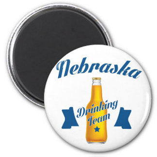 Nebraska Drinking team Magnet