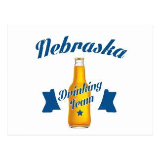 Nebraska Drinking team Postcard
