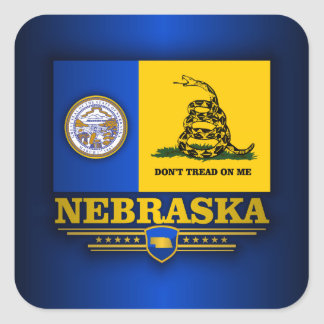 Nebraska (DTOM) Square Sticker