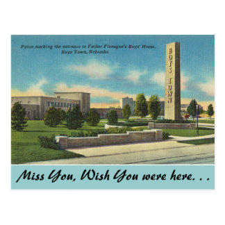 Nebraska, Father Flanagans Boys Town Postcard