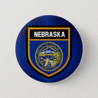 Nebraska Flag 2 Inch Round Button