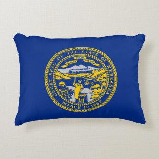 Nebraska Flag Accent Pillow
