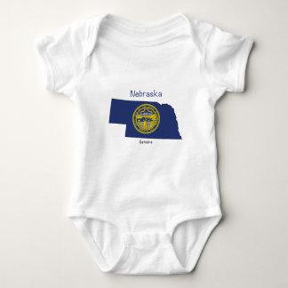 Nebraska Flag and Map Baby Bodysuit