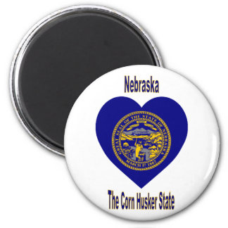 Nebraska Flag Heart Magnet