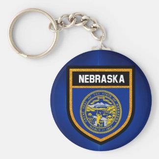 Nebraska Flag Keychain