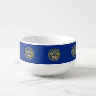 Nebraska Flag Soup Mug