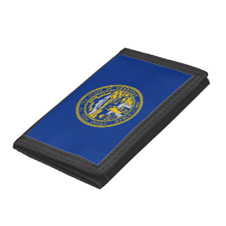 Nebraska Flag Trifold Wallets