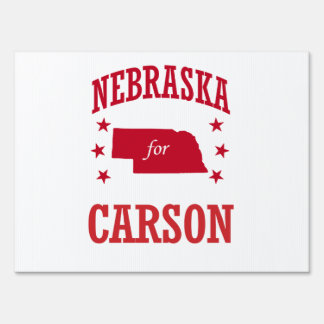 NEBRASKA FOR CARSON SIGN