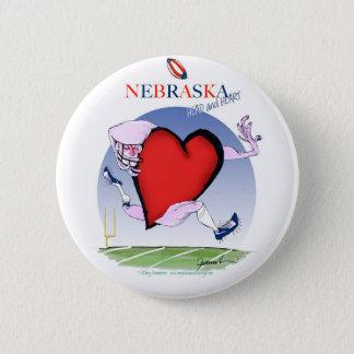 nebraska head heart, tony fernandes 2 inch round button