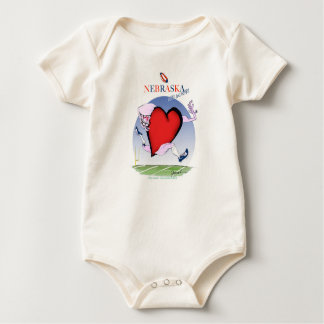nebraska head heart, tony fernandes baby bodysuit
