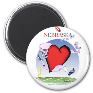 nebraska head heart, tony fernandes magnet