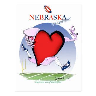 nebraska head heart, tony fernandes postcard
