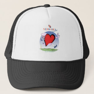 nebraska head heart, tony fernandes trucker hat