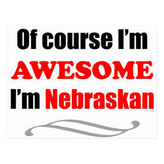 Nebraska Is Awesome Postcard
