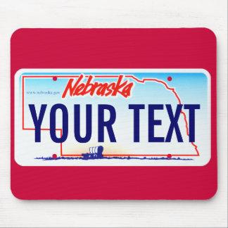 Nebraska license plate mouse pad