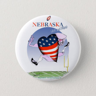 nebraska loud and proud, tony fernandes 2 inch round button