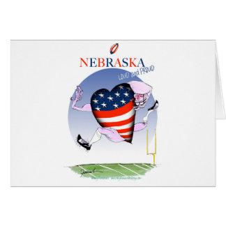 nebraska loud and proud, tony fernandes card