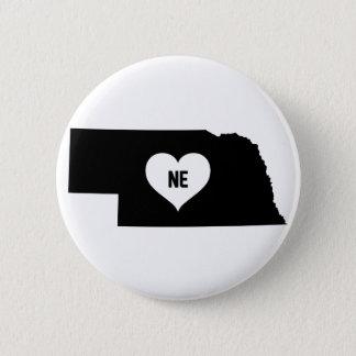 Nebraska Love 2 Inch Round Button