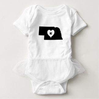 Nebraska Love Baby Bodysuit