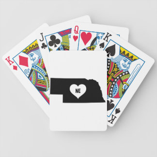 Nebraska Love Bicycle Playing Cards