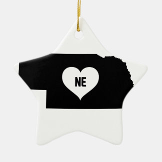 Nebraska Love Ceramic Ornament