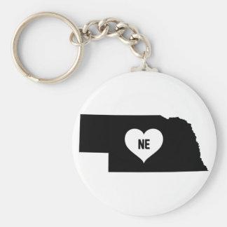 Nebraska Love Keychain
