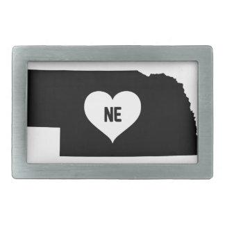 Nebraska Love Rectangular Belt Buckles