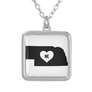 Nebraska Love Silver Plated Necklace