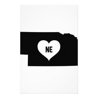 Nebraska Love Stationery