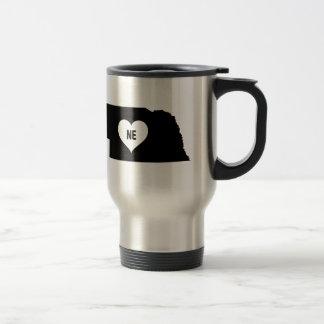 Nebraska Love Travel Mug