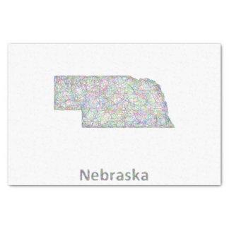 Nebraska map tissue paper