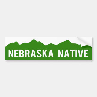 Nebraska Native - Colorado Mountains Sticker