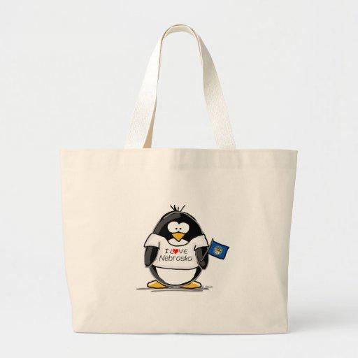 Nebraska penguin canvas bag