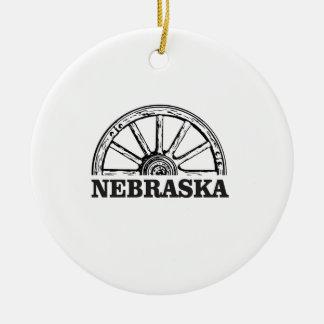 nebraska pioneer ceramic ornament