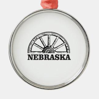 nebraska pioneer metal ornament