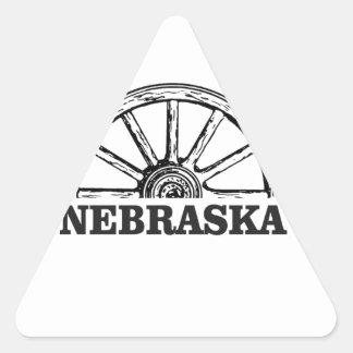 nebraska pioneer triangle sticker