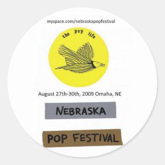 Nebraska Pop Festival sticker