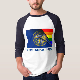 Nebraska Pride LGBT Rainbow Flag T-Shirt