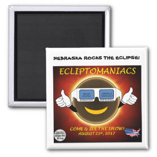 Nebraska Rocks The Eclipse! Magnet