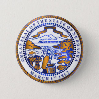 Nebraska seal 2 inch round button