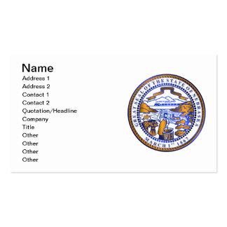 Nebraska seal business card