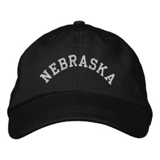 Nebraska State Embroidered Embroidered Hat