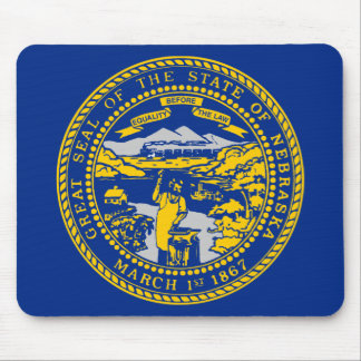 Nebraska State Flag Mouse Pad