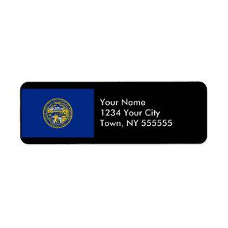 Nebraska State Flag Return Address Label