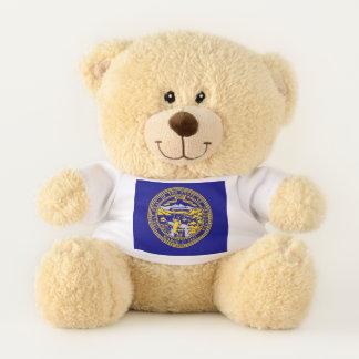 Nebraska State Flag Teddy Bear