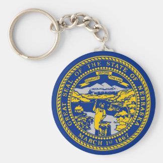 nebraska state flag united america republic symbol keychain