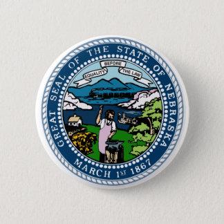 Nebraska State Seal 2 Inch Round Button