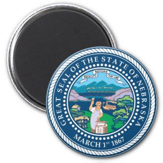 Nebraska state seal america republic symbol flag magnet